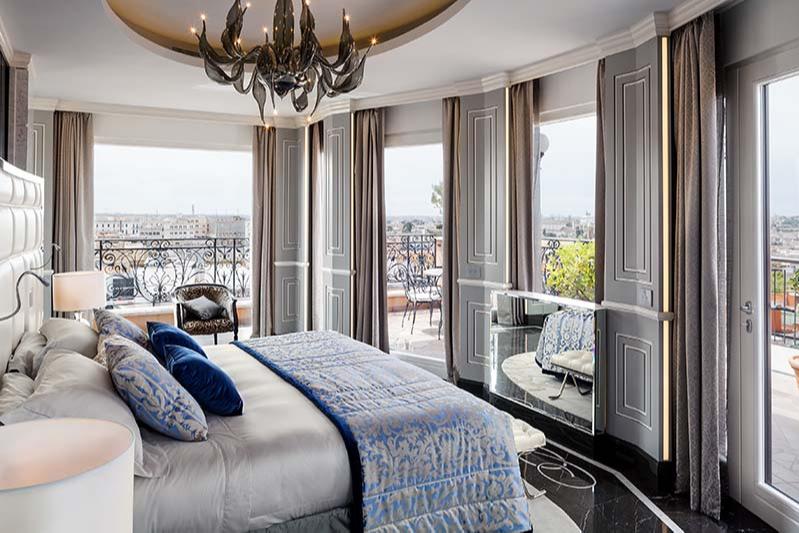 Главная спальня Roman Penthouse, Baglioni Hotel Regina