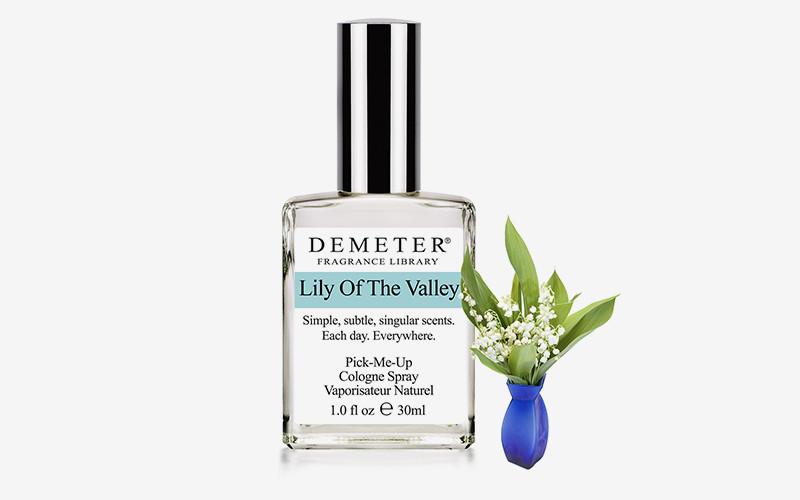 Lily Of The Valley, Demeter  Марка, которая воспроизводит самые диковинные запахи —от теннисных мячей до детской присыпки или даже целой Ирландии — не могла обойти хрупкий весенний цветок. В пирамиде все просто — ландыш. Синтетический, но очень правдоподобный.