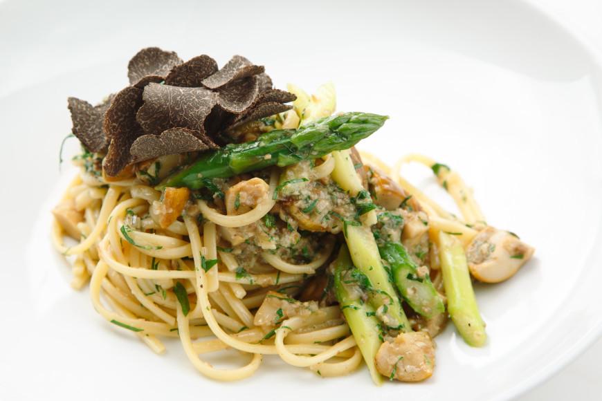 Лучшая вегетарианская паста с жареными белыми грибами