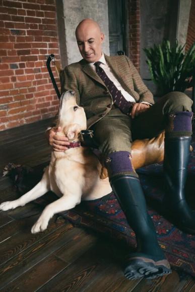 Дмитрий Калашников в брюках из твидаMoorland Tweed