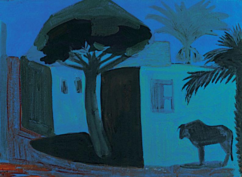 Мартирос Сарьян. Ночной пейзаж. Египет, 1911