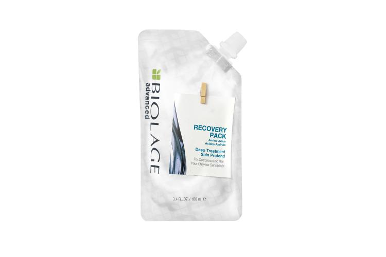 Маска Deep Treatment Recovery Pack, Biolage с аминокислотами мгновенно восстанавливает волосы после химического повреждения, придает им блеск и шелковистость, гладкость и делает их послушными. Подходит также для осветленных волос