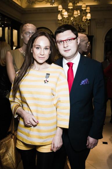 Кира Сакарелло и Василий Церетели (Исполнительный директор Московского музея современного искусства)