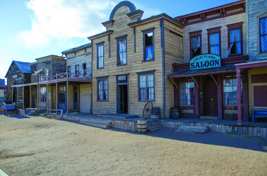 Декорации к фильмам на ранчо Серро-Пелон