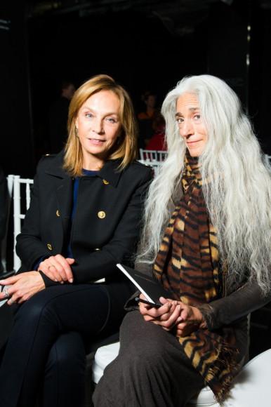 Алена Долецкая, главный редактор Interview, и Ямуна Зейк (автор боди-роллинга)