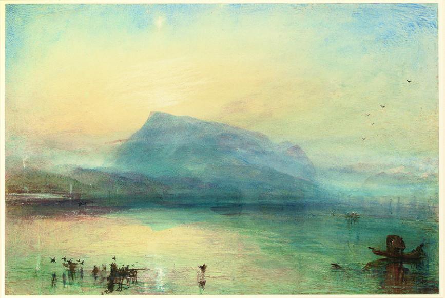 Уильям Тёрнер. «Синяя Риги» (Гора Риги: вид на Люцернское озеро на восходе, 1842