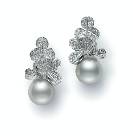 Серьги Fortune Leaves, Mikimoto