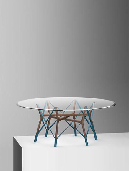Serpentine table by Atelier Oï