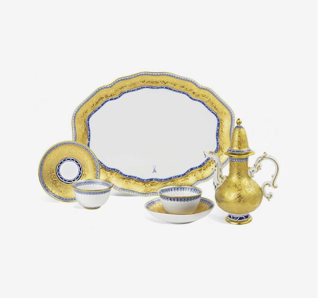 Лимитированный чайный сервиз «Золотой сад», Meissen («Дом фарфора»), 990000 руб.