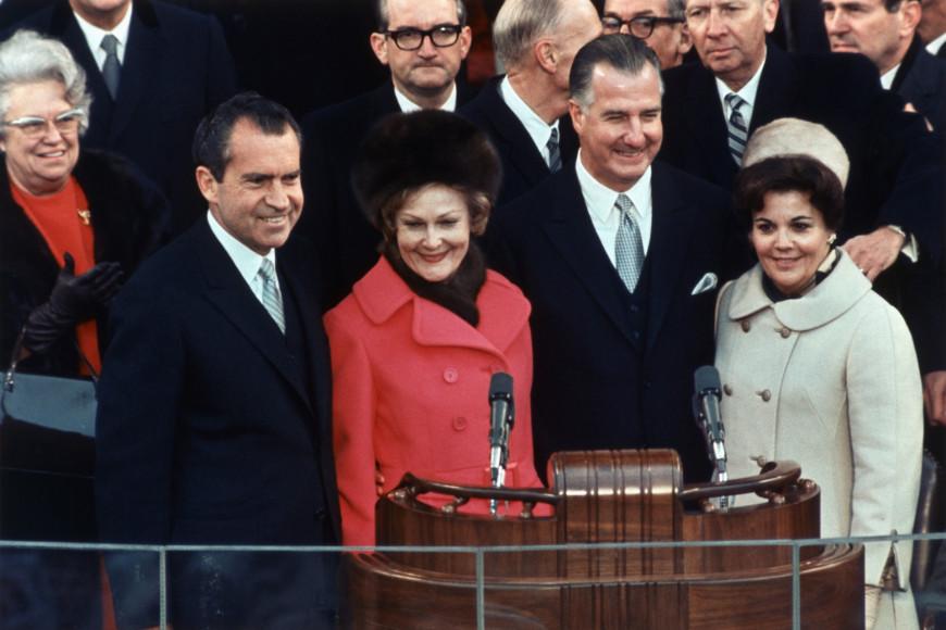 Ричард и Пэт Никсон на инаугурации, 1969 год