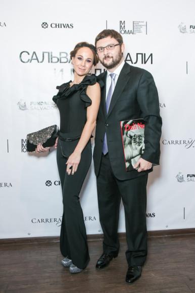 Василий Церетели, ММОМА, с супругой Кирой Сакарелло