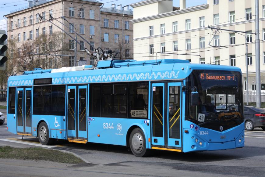 Одна из последних моделей троллейбуса