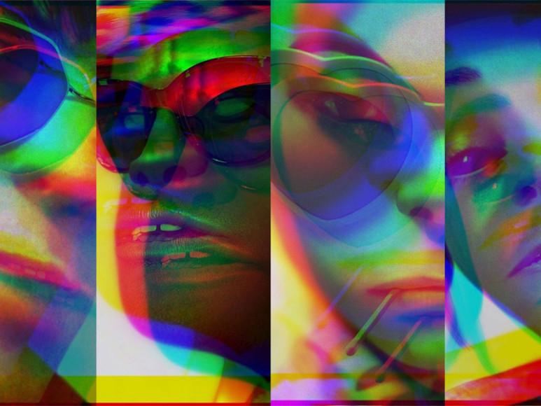Фрагменты серии обложек синглов,оформленныхGorillaz с использованием Glitché