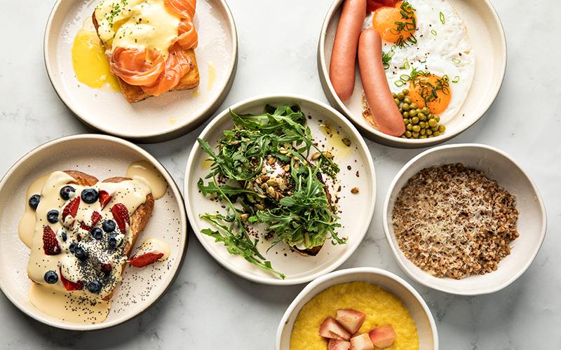 Блюда из меню завтраков