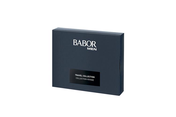 Набор Travel Set Babor Men, Babor включает в себя шампунь-гель для волос и тела, активатор энергии, гель для лица и век, успокаивающий крем для лица и век и концентрат после бритья
