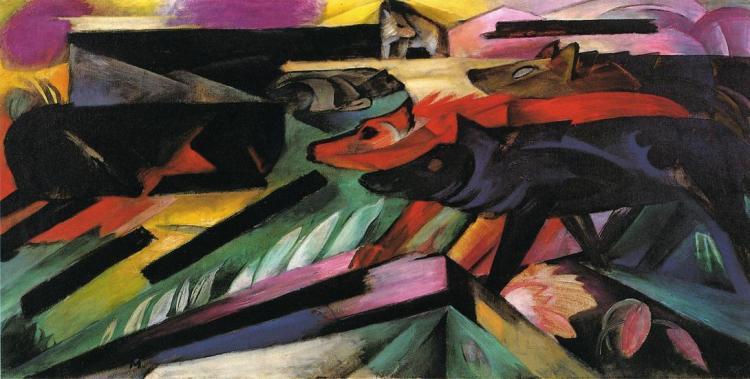 Франц Марк. «Волки (Балканская война)», 1913