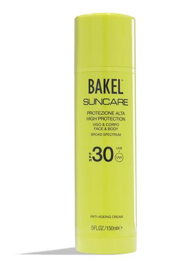 Антивозрастной солнцезащитный крем для лица и тела Suncare SPF 30, Bakel