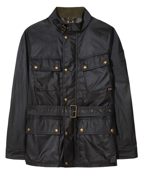 Куртка Belstaff для вождения в дождливый день