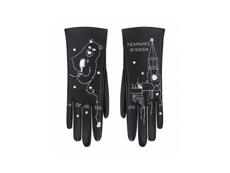 Перчатки из кожи Glove Me, 14 900 руб. (glove.me)