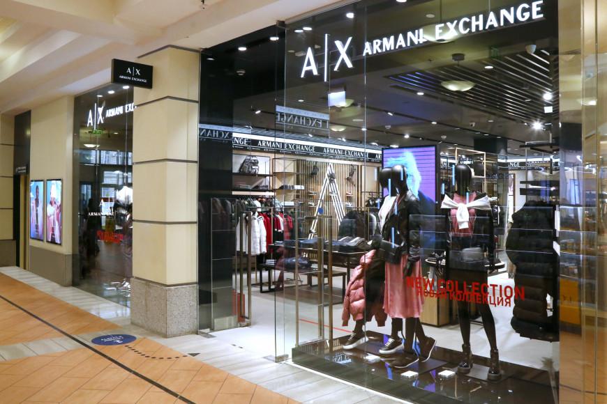 МагазинArmani Exchange в обновленном формате