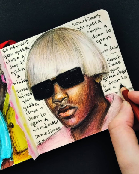 Tyler, The Creator. Рисунок Насти Ковтун