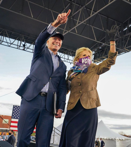 Во время предвыборной кампании Джо Байдена, 2020 год