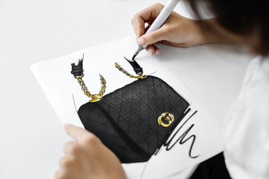 Процесс создания сумкиCaro bag, Dior
