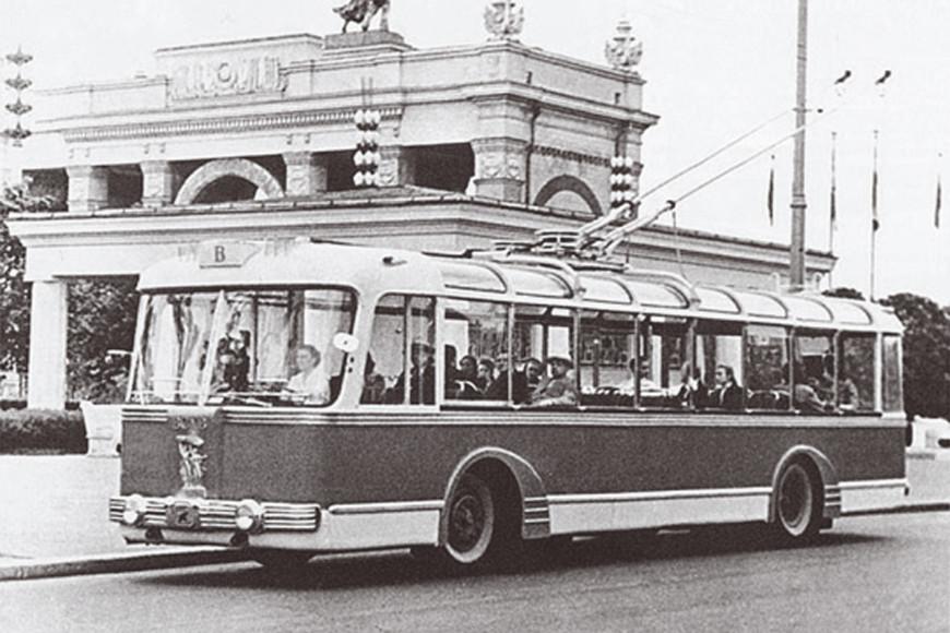Троллейбус на ВДНХ, 1960-е