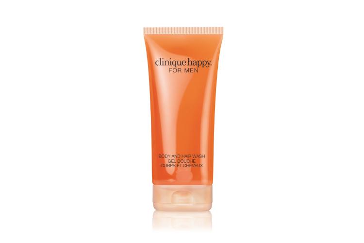 Универсальный очищающий гель для тела, который можно использовать в качестве шампуня для волос с нотами аромата Happy For Men, Clinique
