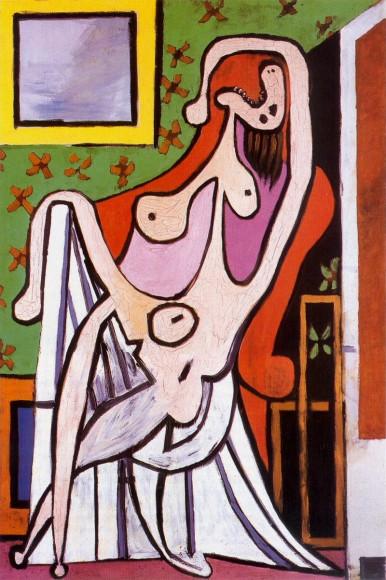 Пабло Пикассо. «Обнаженная в красном кресле», 1929