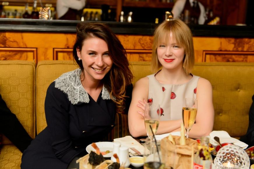 Главный редактор Harper's Bazaar Дарья Веледеева и дизайнер Виктория Газинская