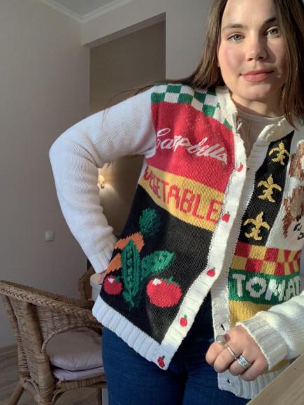 Винтажный коллекционный свитер 1990-х годов