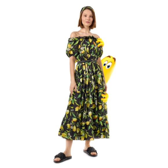 Платье миди с открытыми плечами, BELUCCI