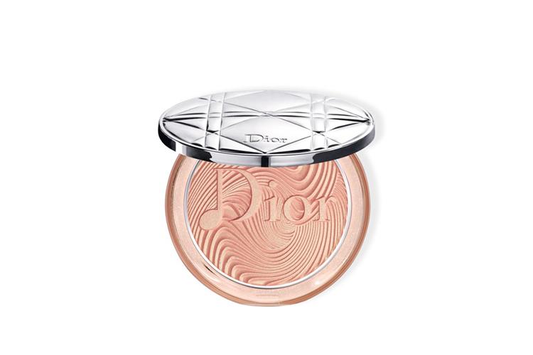Компактная пудра для лица, придющая сияние Diorskin Nude Luminizer Glow Vibes, Dior