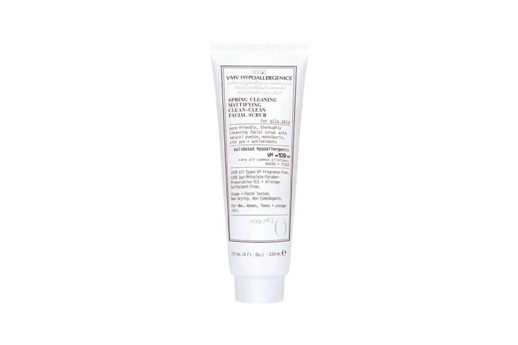 Скраб для глубокого очищения комбинированной кожи VMV Hypoallergenics, Behipo с натуральной пемзой, монолаурином и антиоксидантами