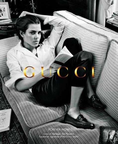 Шарлотта Казираги в рекламной кампании Gucci, осень-зима 2012/13