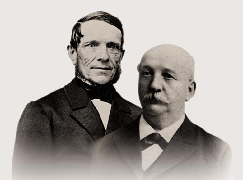 Основатели компании Шарль-Фелисьен и его сын Шарль-Эмиль Тиссо