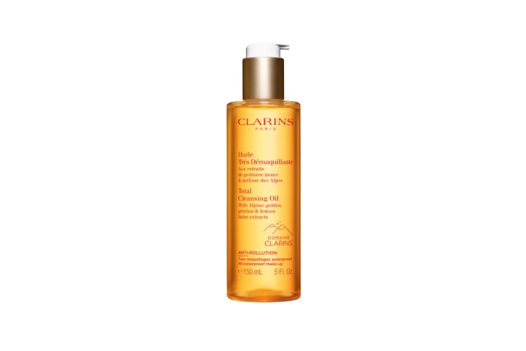 Очищающее масло Total Cleansing Oil, Clarins с органическими экстрактами мелиссы и горечавки