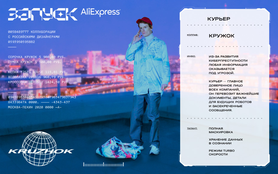 Лукбук коллаборации «AliExpress Россия» с отечественными дизайнерами