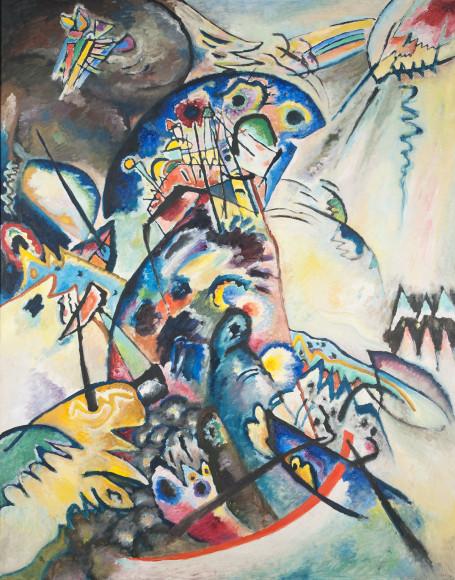 Василий Кандинский. «Синий гребень»(фрагмент), 1917