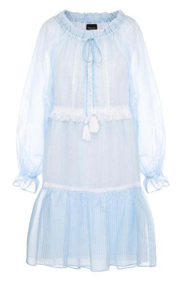 ERMANNO ERMANNO SCERVINO Мини-платье из смеси хлопка и шелка