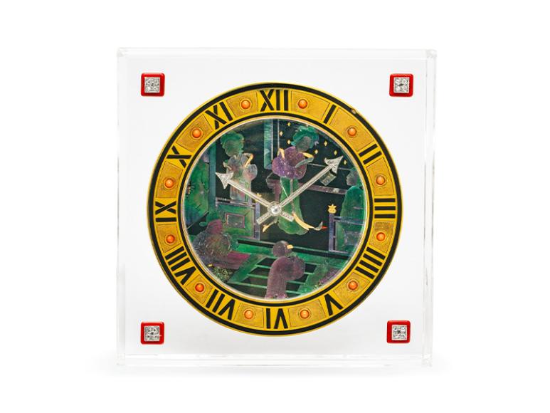 Часы в стиле ар-деко изгорного хрусталя слаковом миниатюрой, 1925 год,эстимейт130-180 тыс. CHF