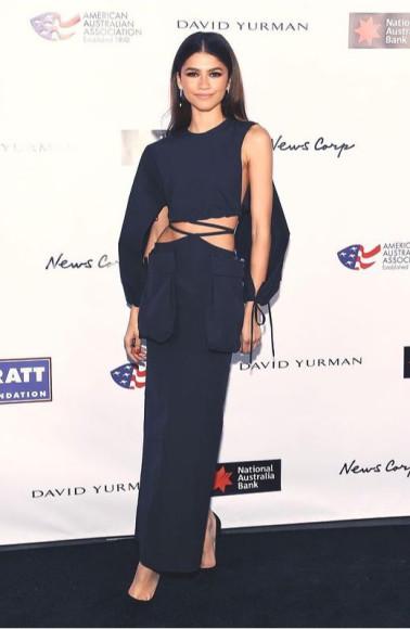В платье Christopher Esber на мероприятии American Australian Association, 2020