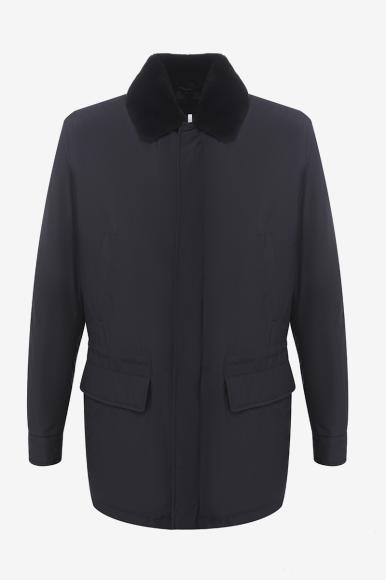 Утепленная куртка с подкладкой из меха бобра