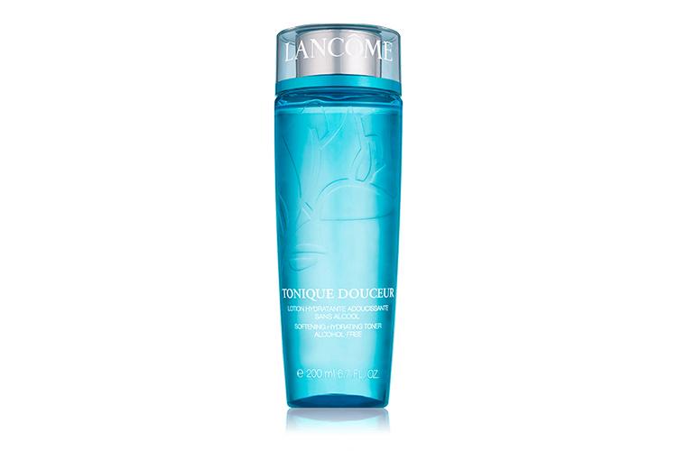 Увлажняющий тоник без содержания спирта с розовой водой Tonique Douceur, Lancôme для сухой, нормальной и комбинированной кожи обогащен растительными экстрактами, тонизирует и улучшает текстуру кожи