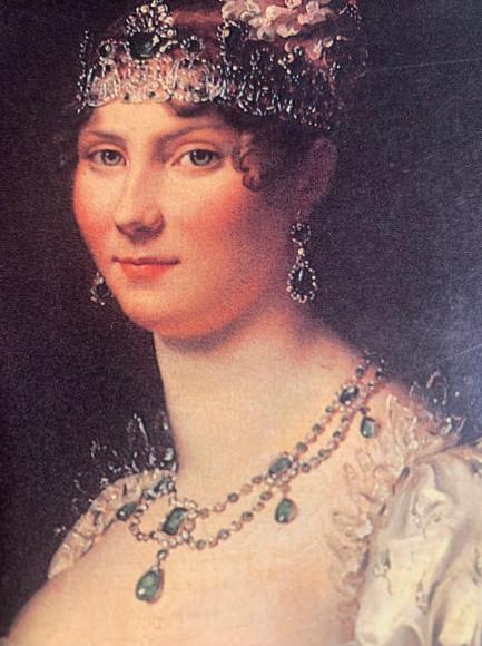 Стефания де Богарне в парюре из сапфиров и бриллиантов