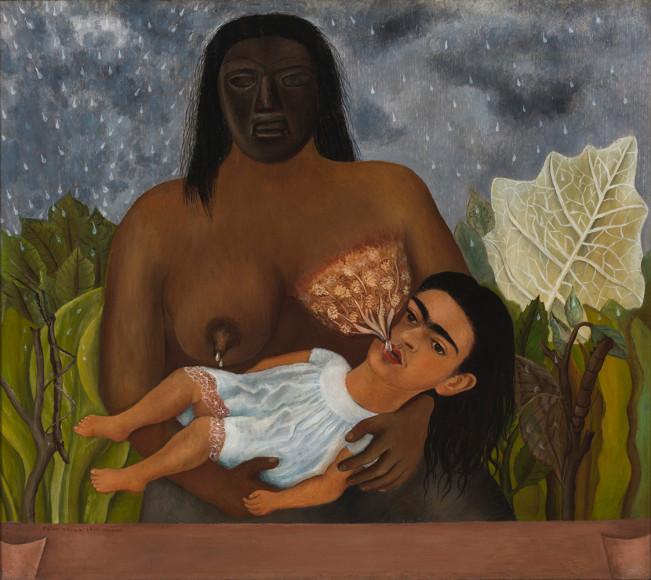 Фрида Кало. Моя кормилица и я. 1937