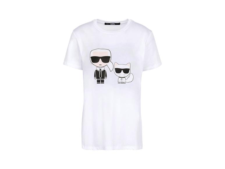 Женская футболка Karl Lagerfeld, 7340 руб. (yoox.com)