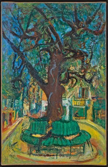 Хаим Сутин. «Маленькая городская площадь, Ванс», около 1929