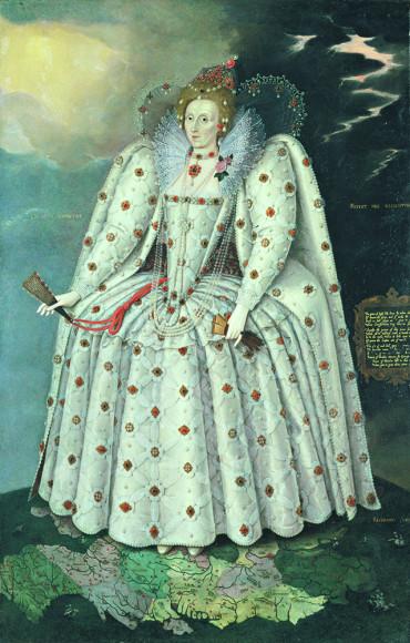 Маркус Герартс Младший. «Портрет Елизаветы I (Портрет из Дичли)». Около 1592 г.